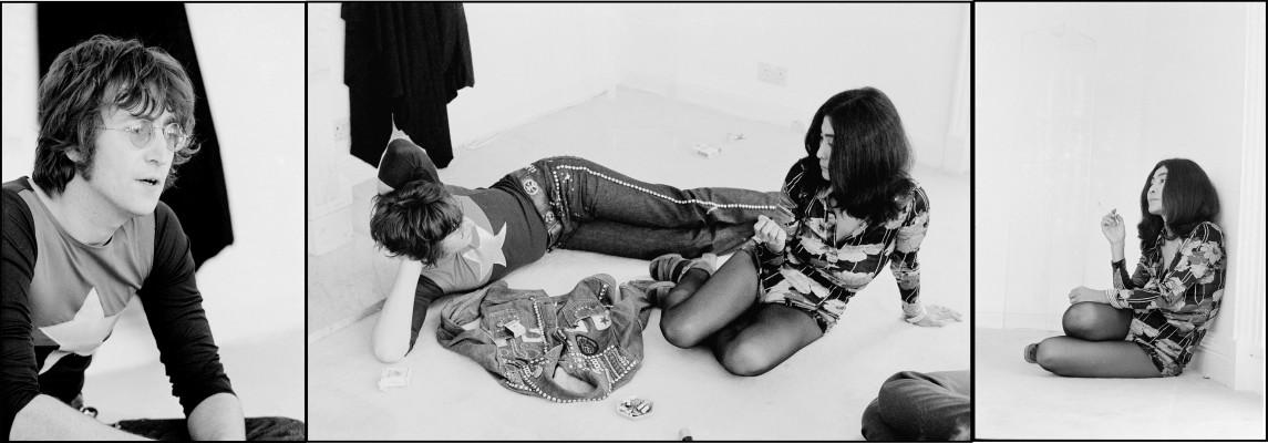John Lennon and Yoko Ono - triptych