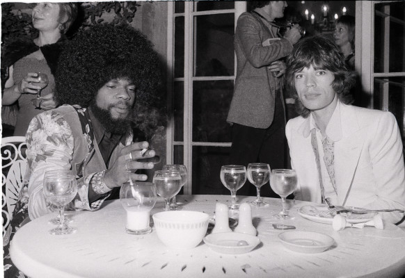 Billy Preston and Mick Jagger