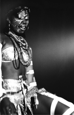 Fela Kuti - a wife on stage
