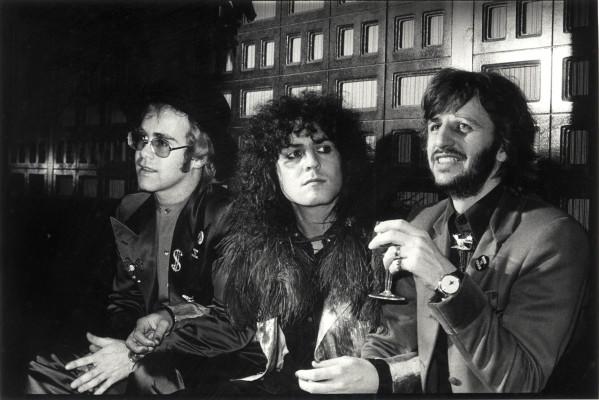 Elton John , Marc Bolan & Ringo Starr