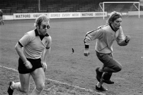Elton John and Rod Stewart